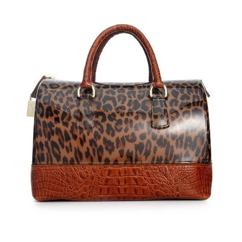 Furla 2 Tone lyst furla two tone bauletto bag in brown