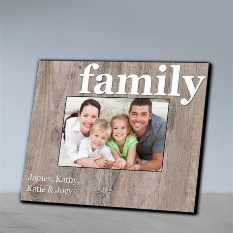 family photo frame personalized family wood grain frame uniquely