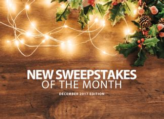 December Sweepstakes - sweepstakesmag sweepstakes and giveaways to win cash cars trips more