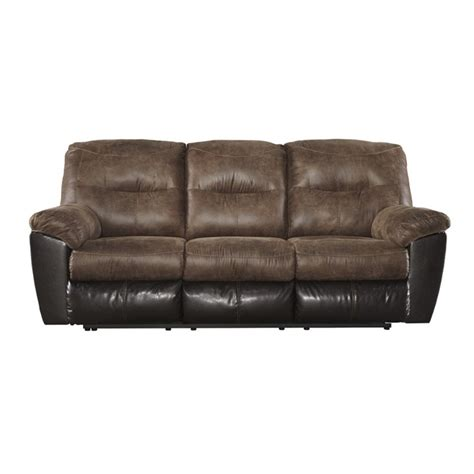 Faux Leather Recliner Sofa Follett Reclining Faux Leather Sofa In Coffee 6520288