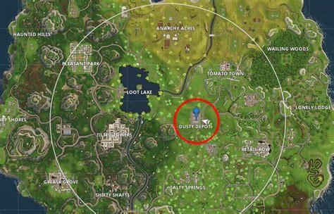 fortnite week 6 treasure map fortnite battle royale dusty depot treasure map location