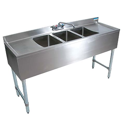 3 compartment sink price bk resources bkubw 372ts three compartment slimline