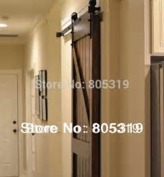 Heavy Duty Barn Door Track 8ft 10ft Heavy Duty Rustic Black Steel Sliding Barn Wood Door Hardware Country Style Sliding