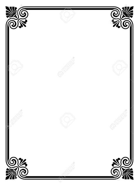 lined paper with simple border border simple borders for paper