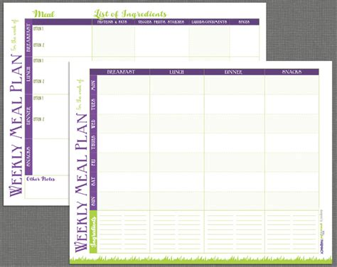 printable meal prep templates and meal planning tips