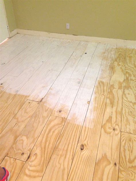 Garage Floor Paint On Plywood Green Notebook Diy Wide Plank Floors Made From