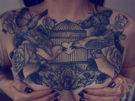 chest piece tattoo female 387 best images about chest tattoos on