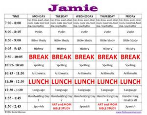 Homeschooling Schedule Template by Blank Schedule Template Weekly Calendar Template 2016