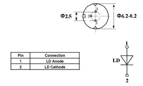 laser diode pin configuration fiber coupled laser diode at 660nm