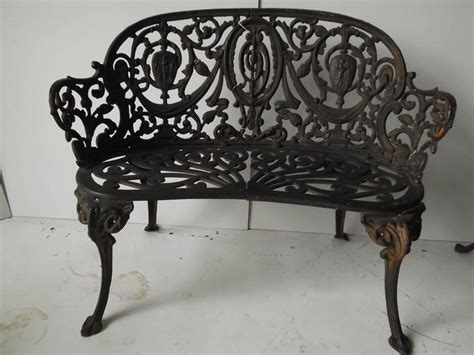 ornate garden benches pair of antique ornate cast iron diminutive garden bench