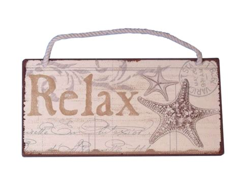 wholesale home decor signs buy tin relax sign 8 inch wholesale sea themed decor
