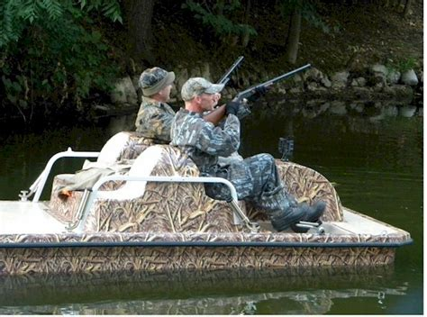 duck hunting from a boat duck hunting pedal boat in action 1