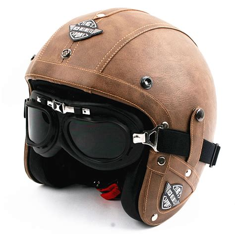leather motorcycle helmet old style open face helmets for sale full bodies