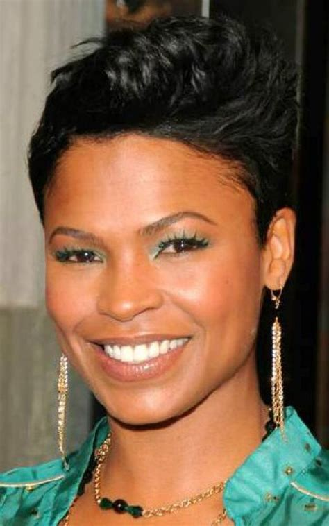 how to style hair like nia long nia long hairstyles for short hair pinterest