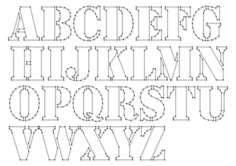 pattern out of words string art pattern sheets alphabet stencil letter height