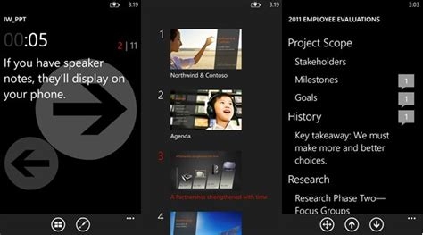 office remote for windows phone steers presentations from
