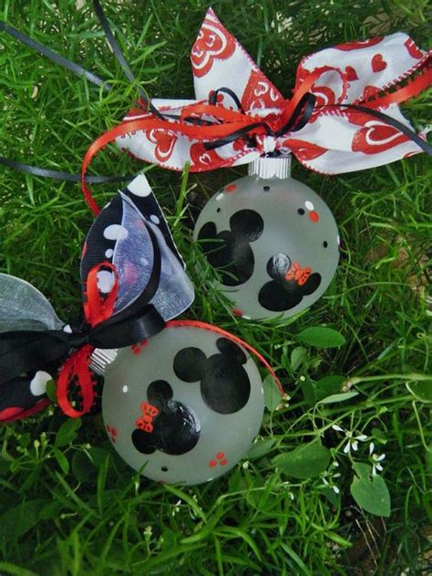 disney wedding favor ornaments four personalized minnie