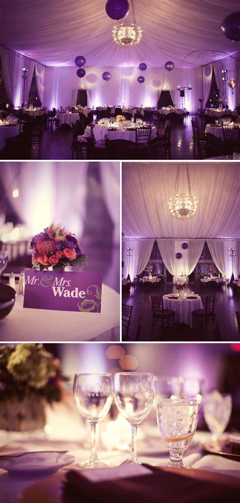 Purple wedding reception  pinned by wedding specialists