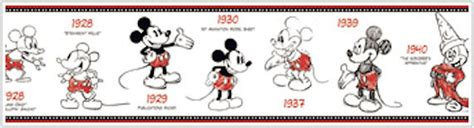 Fathead Wall Murals mickey mouse 1928 2010 prepasted border