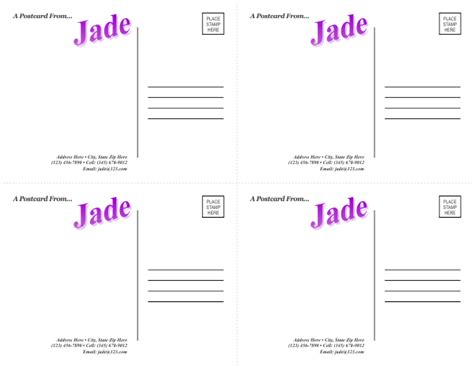 Indesign Postcard Template 4 Up Postcard Template 5