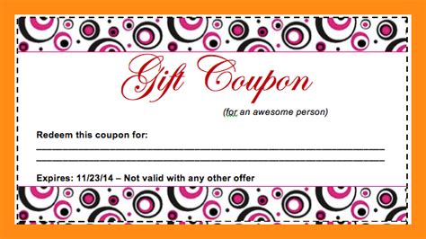 Handmade Coupons - 9 coupon template for word actor resumed