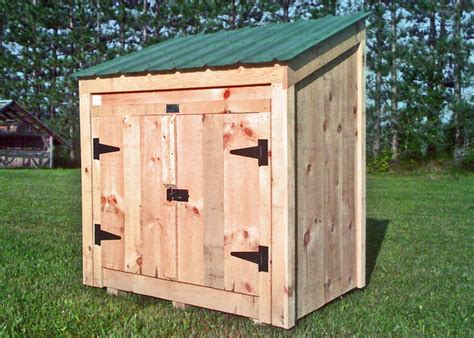 Small Shed Kits by Garbage Bin Storage Wooden Garbage Bin Jamaica Cottage
