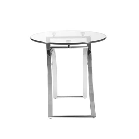 Clear Table L by Eurostyle Talisa Side Table In Clear Glass 21180