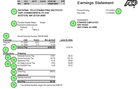 adp pay stub template adp check stub template paystub 750 gif loan application