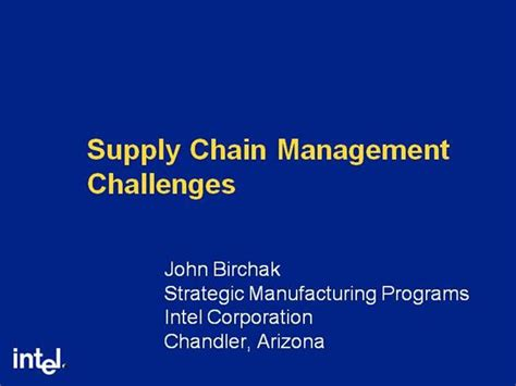 Intel Supply Chain Management Authorstream Intel Ppt Template