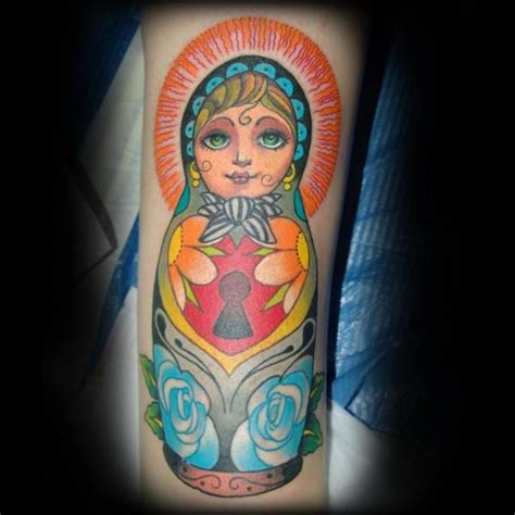 arm matryoshka tattoo by punko tattoo