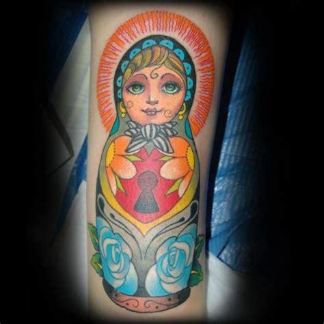 arm matryoshka tattoo by punko tattoo