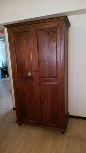 Wardrobe Sale Singapore by One Of A Custom Made To Order Teak Wardrobe For Sale Singapore Classifieds