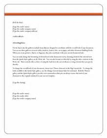 Business Letter Template In Word Letter Format Word Best Template Collection