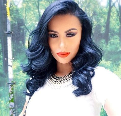 black hairstyles with color cool blue black hair color best hair color trends 2017
