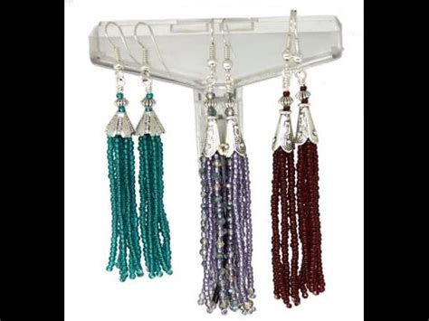 how to make a beaded tassel how to make beaded tassel earrings