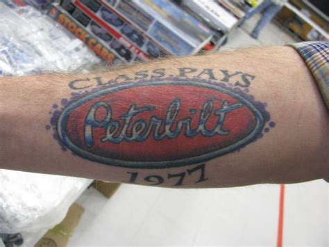 trucker tattoos peterbilt logo www pixshark images