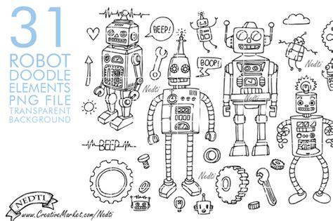 doodlebug drawing robot robots doodle png illustrations on creative