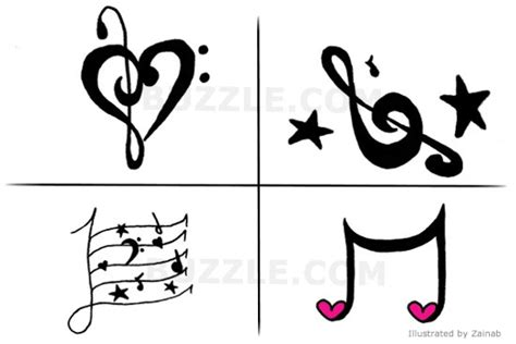 100 butterfly music note tattoo designs 26 upbeat