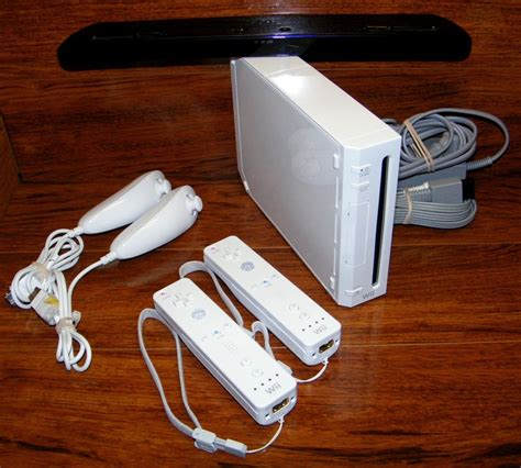 nintendo wii white console nintendo wii white backwards compatible console system