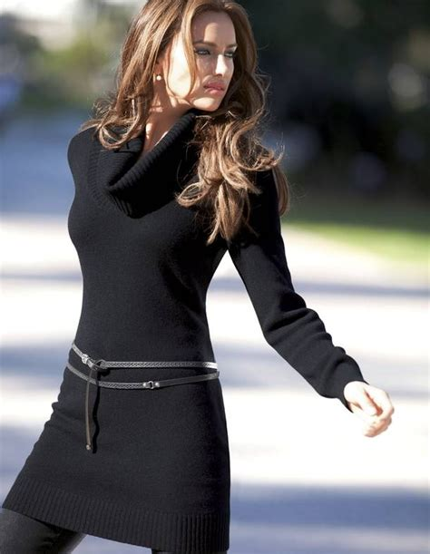Longdress Pantai 8 i sweater dresses to be warm and stylish fall winter fashion sweater dress irina shayk