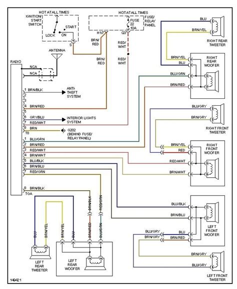 vw jetta stereo wiring diagram wiring diagram and
