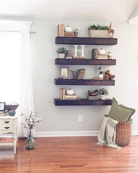 shelf for living room 25 b 228 sta floating shelves id 233 erna p 229 pinterest hyllor tr 228 hylla och shanty 2 chic