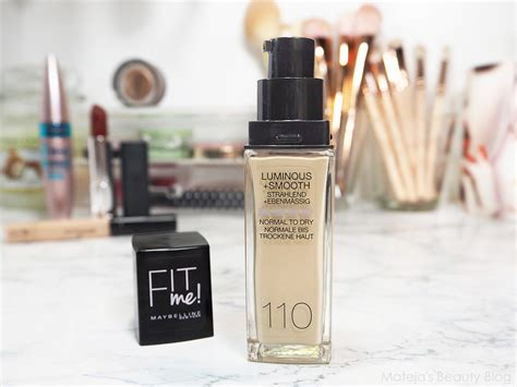 Maybelline Smooth maybelline fit me foundation luminous smooth 110