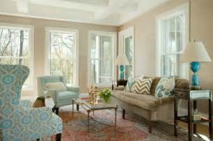 Brown and blue living room transitional living room liz caan