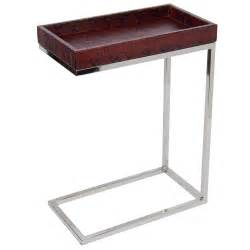 Narrow Side Table Karl Springer Style Narrow Side Table In Python Embossed Garnet Leather At 1stdibs
