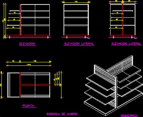 Free Architectural Plans by Gondola Display Rack 2d Dwg Block For Autocad Designs Cad