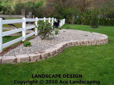 rock bed outdoor gardening rock flower bed borders ideas
