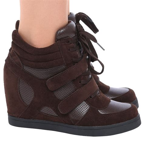 trainers high heels thea womens concealed wedges heels trainers high