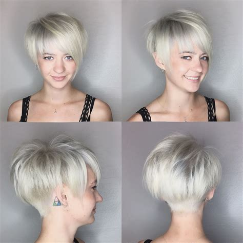 platninum hair cuts pixie haircut platinum blonde by leahfittsbeautydesign