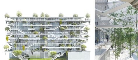 design concept green building open concept green office building in france by nl a paris